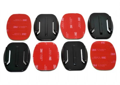 Flat Surface  Adhesive Mounts GoPro Compatible x4
